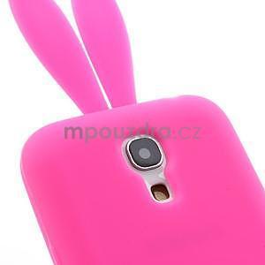Silikonový obal na Samsung Galaxy S4 mini - rose králík - 7