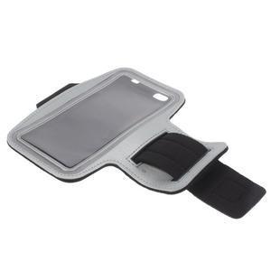 Gym běžecké pouzdro na mobil do rozměrů 153.5 x 78.6 x 8.5 mm - šedé - 7