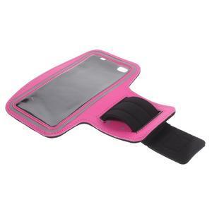 Gym běžecké pouzdro na mobil do rozměrů 153.5 x 78.6 x 8.5 mm - rose - 7