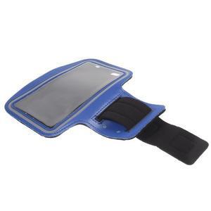 Gym běžecké pouzdro na mobil do rozměrů 153.5 x 78.6 x 8.5 mm - modré - 7