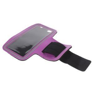 Gym běžecké pouzdro na mobil do rozměrů 153.5 x 78.6 x 8.5 mm - fialové - 7