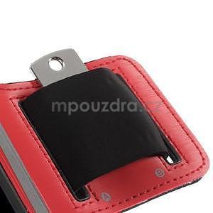 Run běžecké pouzdro na mobil do velikosti 131 x 65 mm - červené - 7