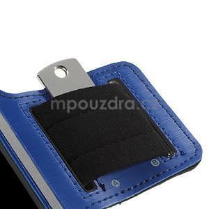 Run běžecké pouzdro na mobil do velikosti 131 x 65 mm - modré - 7
