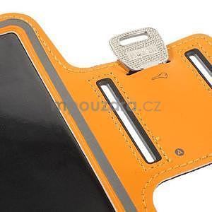Běžecké pouzdro na ruku pro mobil do velikosti 152 x 80 mm - oranžové - 7