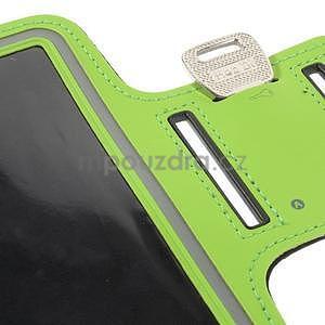 Běžecké pouzdro na ruku pro mobil do velikosti 152 x 80 mm - zelené - 7