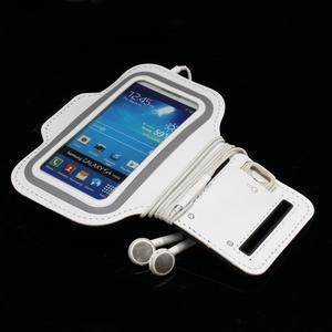 Bílé pouzdro na ruku do velikosti mobilu 125 x 61 mm - 7