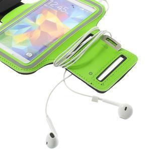 Fitsport pouzdro na ruku pro mobil do velikosti až 145 x 73 mm - zelené - 7