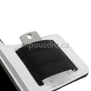 Run běžecké pouzdro na mobil do velikosti 131 x 65 mm - bílé - 7