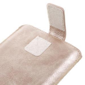 Univerzální flipové pouzdro pro mobily do 150 x 85 mm - zlatorůžové - 7