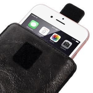 Univerzální flipové pouzdro pro mobily do 150 x 85 mm - černé - 7
