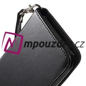Luxusní univerzální pouzdro pro telefony do 140 x 70 x 12 mm - černé - 7