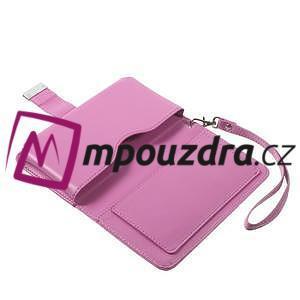 Luxusní univerzální pouzdro pro telefony do 140 x 70 x 12 mm - rose - 7