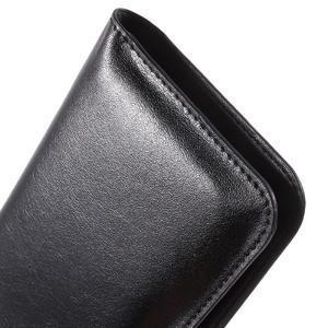 Peněženkové univerzální pouzdro na mobil do 140 x 68 x 10 mm - černé - 7