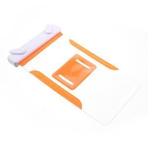 Nox7 vodotěsný obal na mobil do rozměru 16.5 x 9.5 cm - oranžový - 7