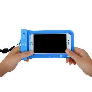 Base IPX8 vodotěsný obal na mobil do 158 x 78 mm - modrý - 7