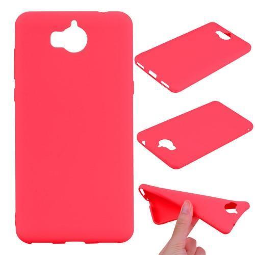 Antiotiskový gelový obal na Huawei Y6 (2017) - červený e739eba68f2