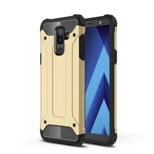 Armory odolný kryt na mobil Samsung Galaxy A6 Plus - zlatý - Mpouzdra.cz 4458bffdaf1