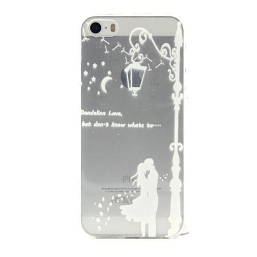 Transparentní gelový obal na mobil iPhone SE   5s   5 - láska pod lampou 5972b5acf07