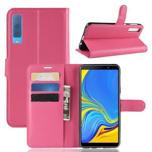 f2c1f590e Skin PU kožené flipové pouzdro pro Samsung Galaxy A7 (2018) - rose - 1